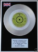 "ALICE COOPER - 7"" Platinum Disc - ELECTED"
